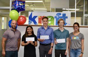 scholarship winners with Kraft staff